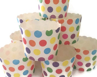 Multicolor Polka Dot Baking/Treat Cups