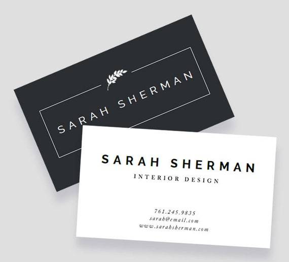 Business Card Template : For Word and Pages : Instant Download ...