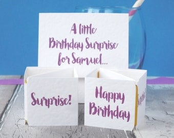 Pop Up Funny Birthday Card - Birthday Card for Mum - Birthday Card for Boyfriend - Birthday Card for Friend - Pop up Birthday Card