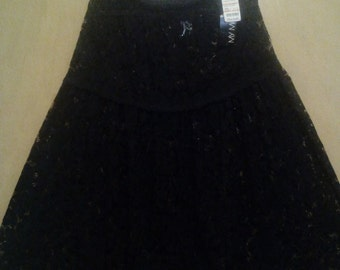 Clearance was 77 now 60.  80s/90s NWT Vintage Boho Chic Lace Gypsy Maxi Skirt/Goth Maxi Skirt by My Michelle