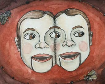 Dummy Twins *original painting*