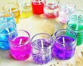 Colorful Shot Glass Candles