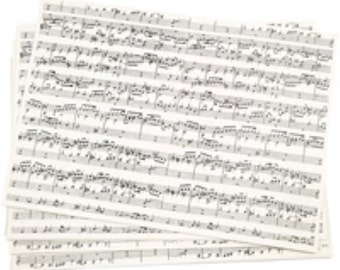 Music Notes Kraft Paper - 100 g - Pack of 10 sheets of A4 21x30 cm