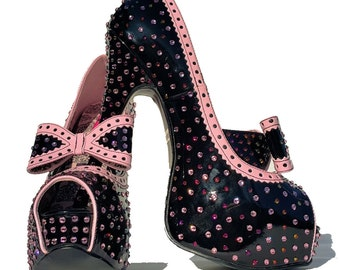 Swarovski shoes-Sparkly High heels-special event shoes-Bling Shoes-Glitter Shoes-Rhinstone Heel Shoes-Evening Shoes-Black Friday-gift