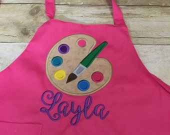 Kids/ toddler painting smock! Personalized! White only...