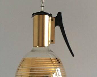 Midcentury Modern gold striped coffee carafe