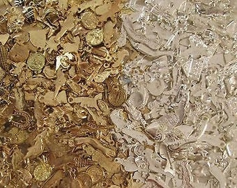1000 Milagros ( Gold And Silver Color ) 2 Pounds Wholesale Mexican Folk Art