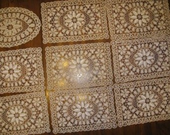 Beautiful Vintage crochet doilies or placemats