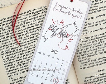 Save-the-date BOOKMARK-set 20 pieces