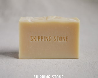 PURE Sake Kasu : Body + Face Soap, unscented, cold process, handmade, all natural soap