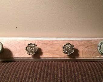 Mismatched knob wall decor