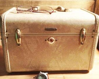 Samsonite Train Case | Train Case Vintage   | Vintage Samsonite Luggage | Vintage Makeup Case | Overnight Travel Case |Samsonite Style 4512