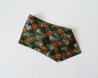 IC scarf, scarf, loop for the gentlemen, tie, loop, golf motif, vintage-style,.