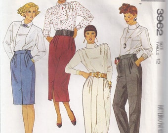 Misses' Skirt and Pants Pattern - 1980s