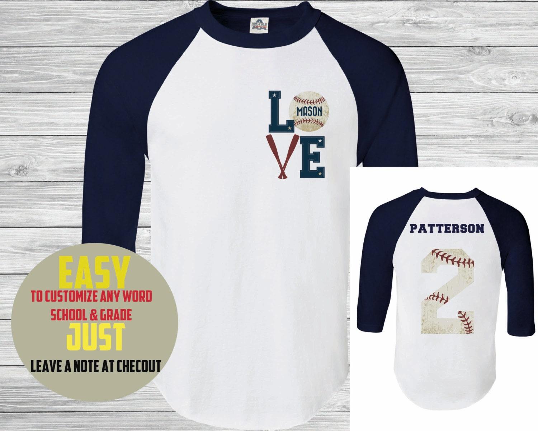 Baseball tee custom name and number womens baseball by for Custom baseball tee shirts