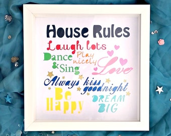 House Rules Paper Cut