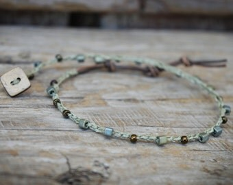 Beaded Crochet Anklet, Beaded Crochet Jewelry, Crocheted Anklet, Boho Beach Jewelry, Crochet Beaded Anklet, Crocheted Jewelry