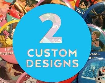 "Custom 3"" Celebrating Button – 2 Designs"