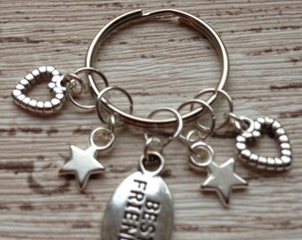 Charm Keyring. Best friends