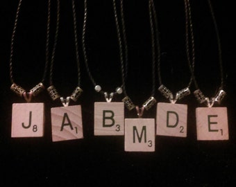 Scrabble Piece Necklace