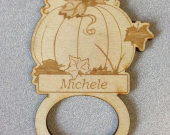 Personalized Pumpkin Napkin Rings