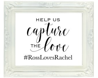 Custom Wedding Hashtag Sign, Personalized 8x10 digital sign, Printable Wedding Instagram sign, Social Media Sign, Custom Hashtag Sign