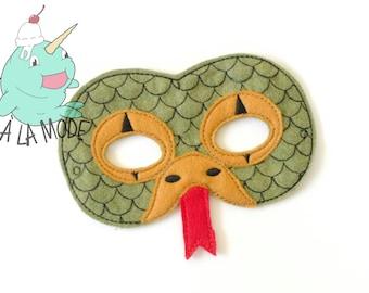 Snake Felt Mask