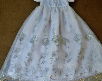 Christening dress,  Girls Baptism dress, Embroidered  Christening dress, size 6-12 months