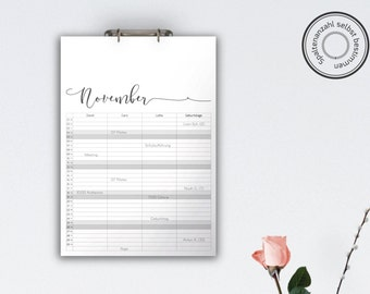Family Calendar 'MELIKA', black // A3