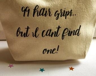 Hair grips small bag