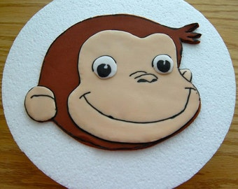 Monkey Cake Topper (100% Edible)