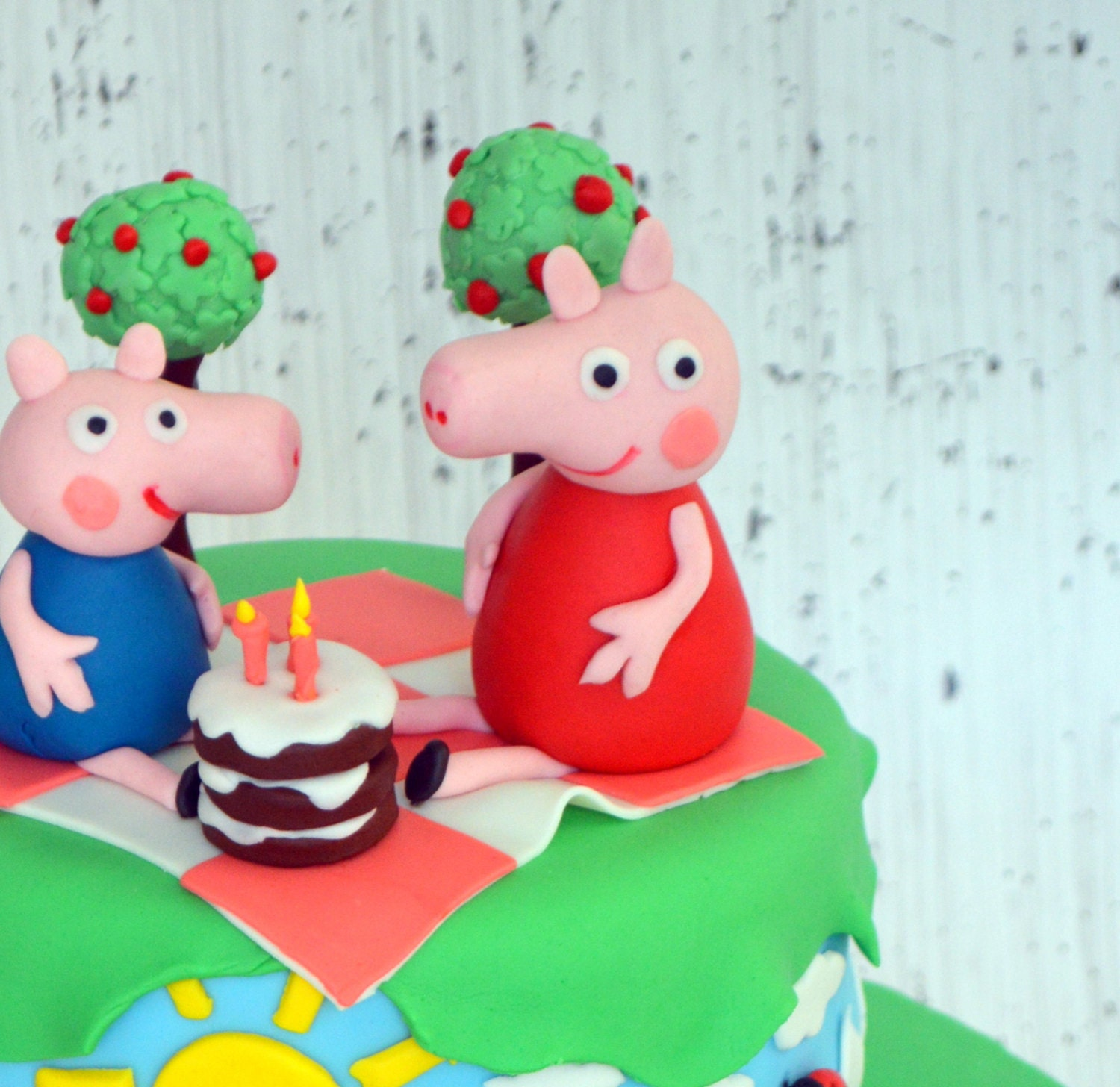 peppa pig cake topper 100 edible