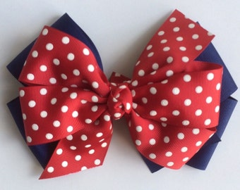 Large Polka Dot Boutique Bow