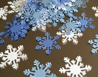 Snowflake confetti 100 count, winter ONEderland, frozen birthday, winter party, baby its cold outside, baby shower, Chrismas card confetti