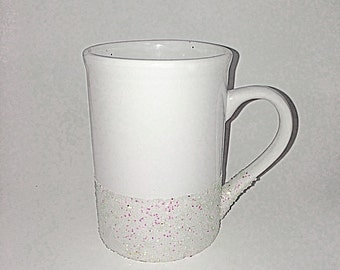 Glitter coffee cup; coffee lovers cup; gift;