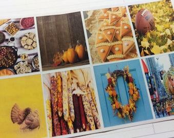 Thanksgiving Photo Full Box Stickers