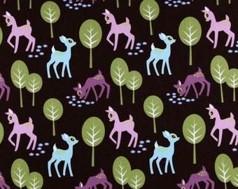 Pet Deer Brown Michael Miller   Cotton Quilt Fabric   Bfab
