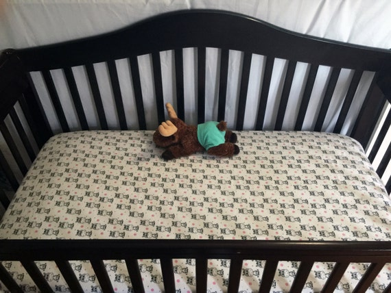 Zebra Flannel Custom Crib Sheet/mini Crib By