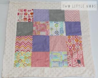 Cuddle blanket / comforter / patchwork / minky / sleep blanket / blankie