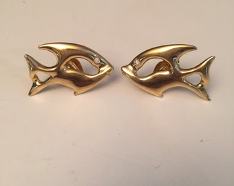 Yves Saint Laurent vintage Yves Saint Laurent vintage fish earrings fish earrings
