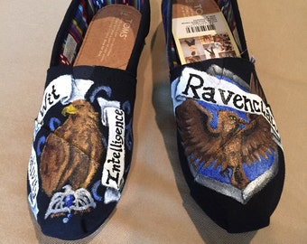 Handpainted Ravenclaw TOMS