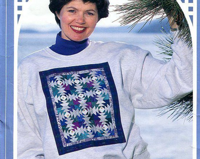 FREE US SHIP Back Porch Press Pineapple Patch Sweatshirt Quilt 1995 Gaile E Abeloe Craft Sewing Pattern 1995 Uncut