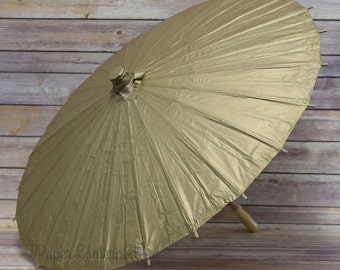 """32"""" Gold Paper Parasol Umbrella - 40PP-CG"""