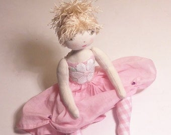 Rag doll - Art doll - Art interior doll - decorative doll - Hélèna