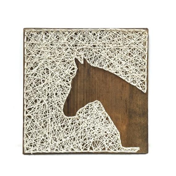 Horse head string art farmhouse kitchen decor rustic nursery Horse design kitchen accessories