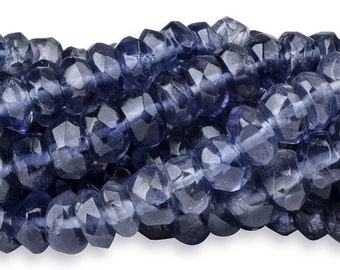 14 1/2 IN Strand 4.5-5 mm Iolite Rondelle Faceted Gemstone Beads (IL100110)