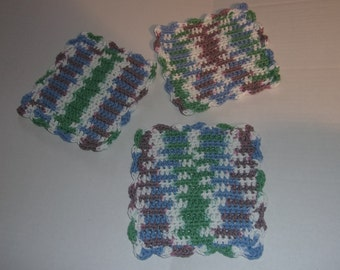 Crocheted Dish Rag Wash Rag Dish Cloth Wash Cloth Reusable Cloth Reusable Rag Housewarming Gift Shower Gift Kitchen Gift