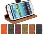 Retro Vintage Frosted PU Leather Wallet Case for Samsung Galaxy SIII S3 I9300 Flip Funda Card Phone Bag Cover