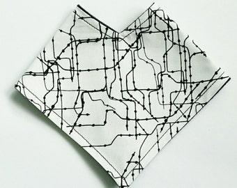 City Grid Bandana Bib // #BB17