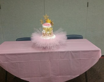 TuTu themed diaper cake